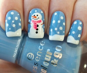 nails, snowman, and snow image