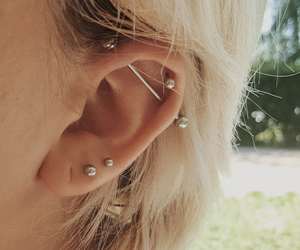 blond hair, ear, and helix image