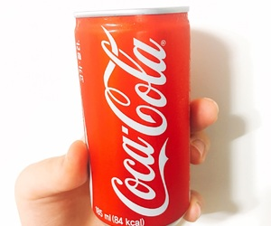 can, cocacola, and red image