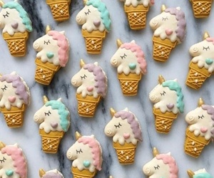 unicorn, food, and Cookies image