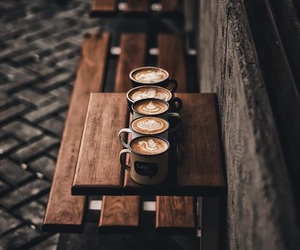 coffee, wood, and delicious image