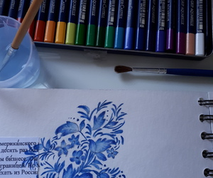 aquarelle, dessin, and drawing image