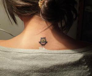girl, owl, and tattoo image