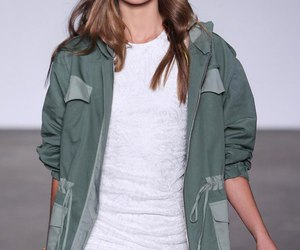 model, parka, and photography image
