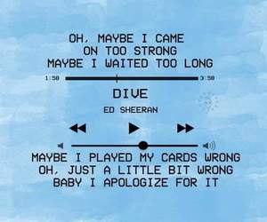 blue, dive, and ed sheeran image