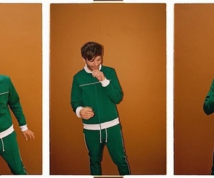 louis tomlinson, green, and louis image