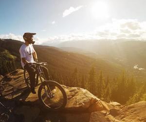 bike, boy, and downhill image