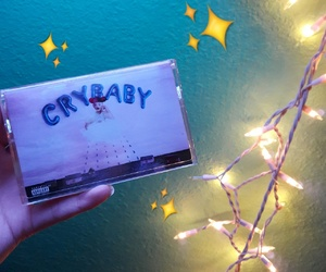 cry baby, glitter, and lights image