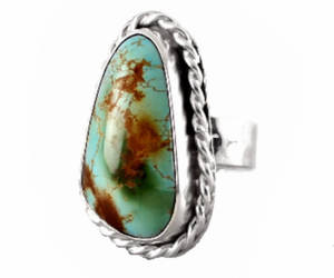 etsy, chunky ring, and silver turquoise image