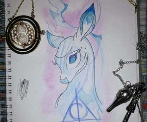 deathly hallows, harry potter, and lily image