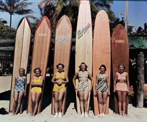 vintage, surf, and girl image