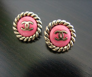 chanel, pink, and earrings image