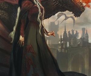 daenerys targaryen, game of thrones, and drogon image