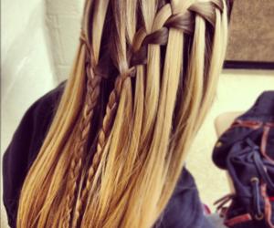 hair, braid, and blonde image