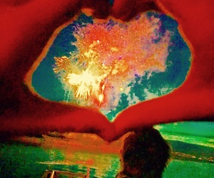 art, bright, and heart image