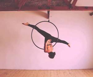 aerial hoop, exercise, and fitness image