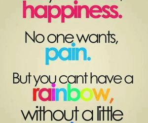 rainbow, happiness, and pain image