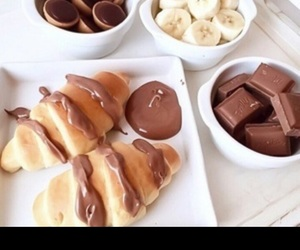 bananna, croissant, and chocolate image