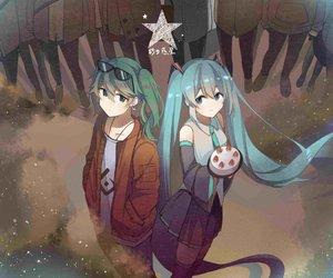 miku, vocaloid, and miku hatsune image