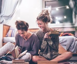 friends, book, and friendship image