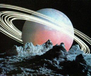 space, art, and saturn image