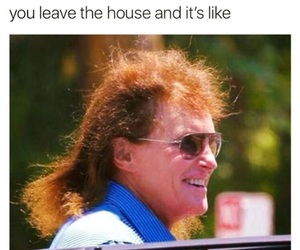 funny, bruce jenner, and hair image