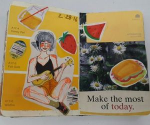 fruit, illustration, and sketchbook image