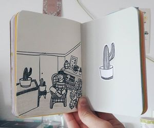 cactus, journal, and sketchbook image