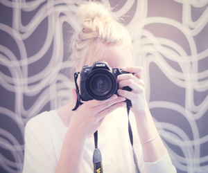 arms, blond, and camera image