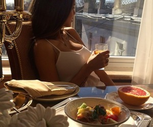 girl, food, and breakfast image