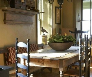 country living, dining room, and farmhouse image