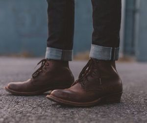 man and shoes image