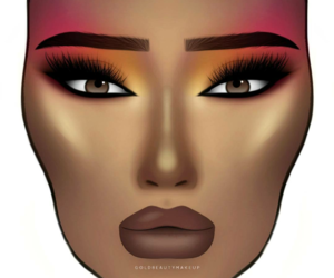 artsy, facechart, and makeup image