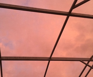 peach, sky, and aesthetic image
