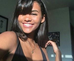 bangs, cute, and melanin+ image