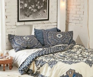 bedroom, bed, and bohemian image