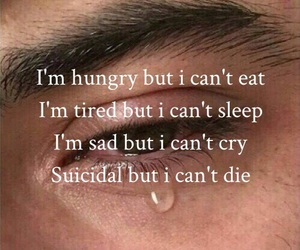 hungry, sad, and cry image