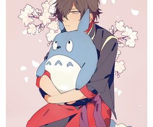 kawaii, anime, and hug image