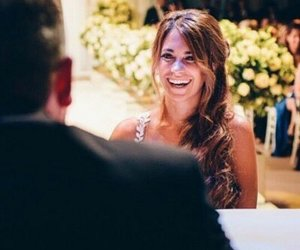 bride, messi, and smile image