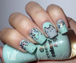 nails, cat, and manicure image