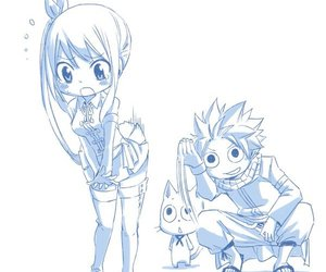 happy, fairy tail, and natsu image