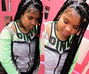 braids, hair, and natural hair image