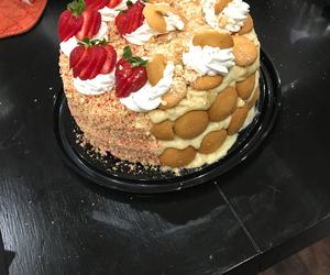 banana, cake, and strawberry image