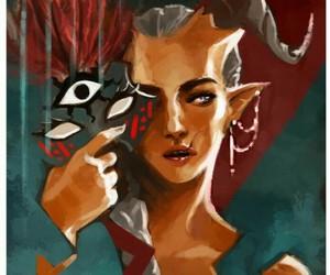dragon age, dragon age 2, and qunari image