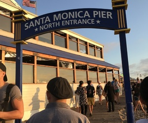monica, pier, and santa image