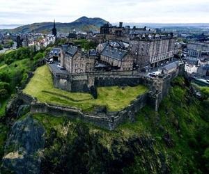 architecture, castle, and edinburgh castle image