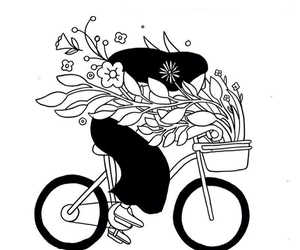 bike and flowers image