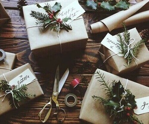 christmas, wrapping, and winter image