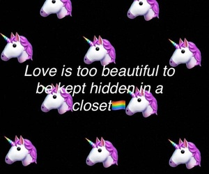 bisexual, unicorn, and love is love image
