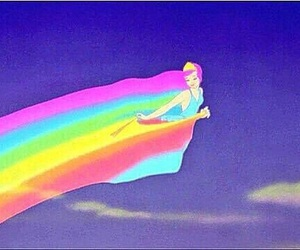 rainbow, disney, and fantasia image